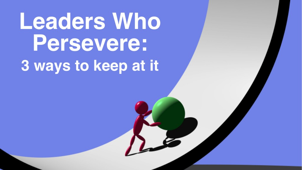 Leaders who persevere-  3 Ways to keep at it.008